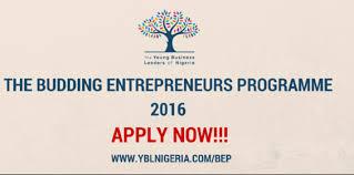Budding Entrepreneurs Programme 2016